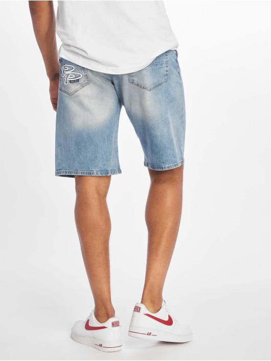 Pelle Pelle Shorts Double P Denim blå