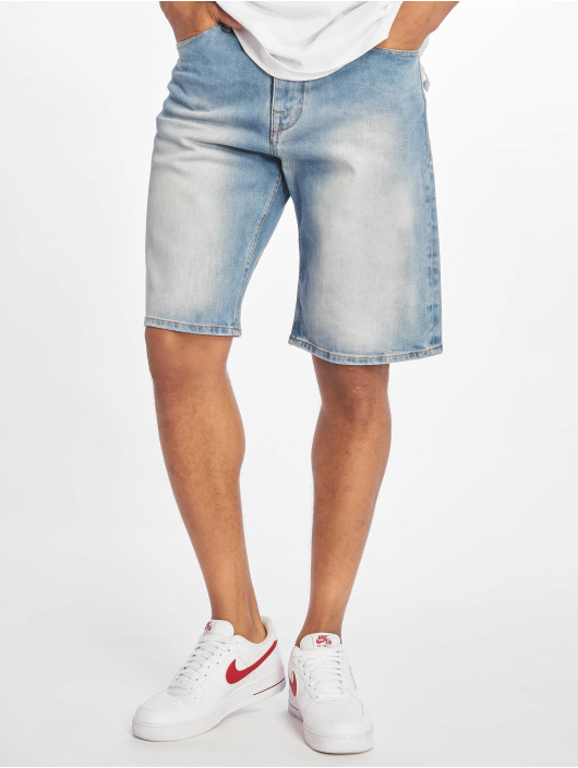 Pelle Pelle Shorts Double P Denim blau
