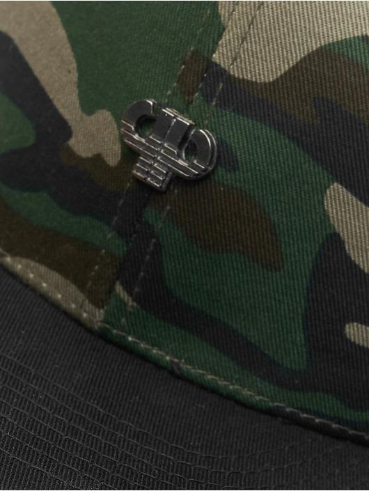 Pelle Pelle Snapback Cap Icon Plate mimetico