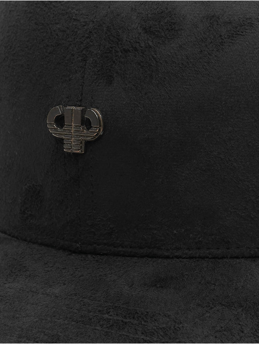 Pelle Pelle Snapback Cap Icon Plate Snapback nero