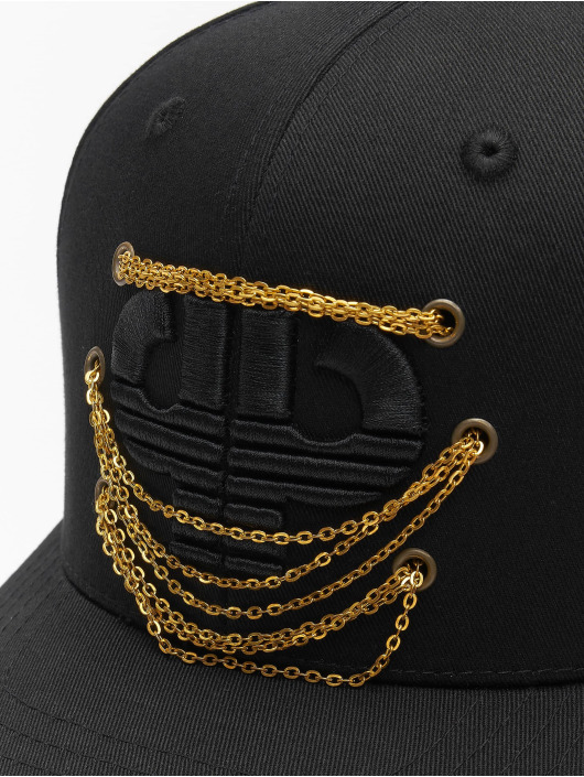 Pelle Pelle Snapback Caps Chained Icon Curved czarny