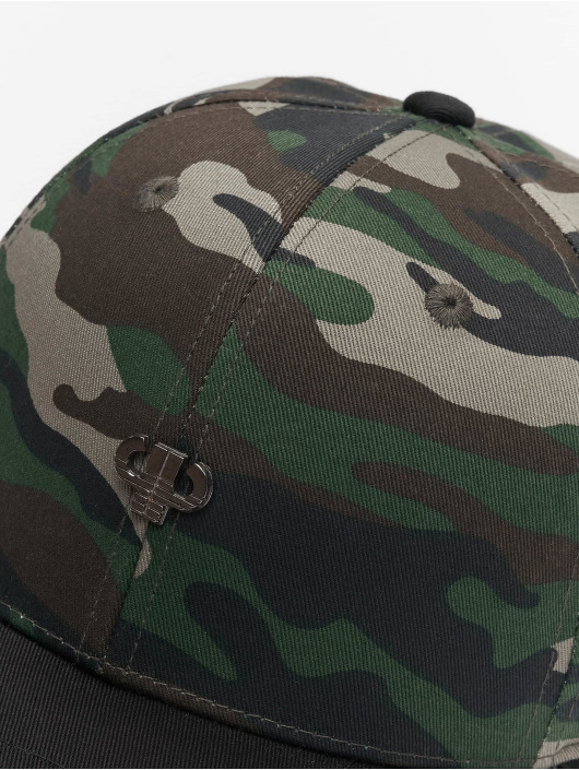Pelle Pelle Snapback Caps Icon Plate Curved kamuflasje