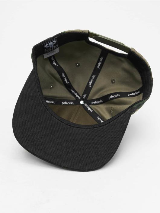 Pelle Pelle Snapback Caps Icon Plate kamuflasje