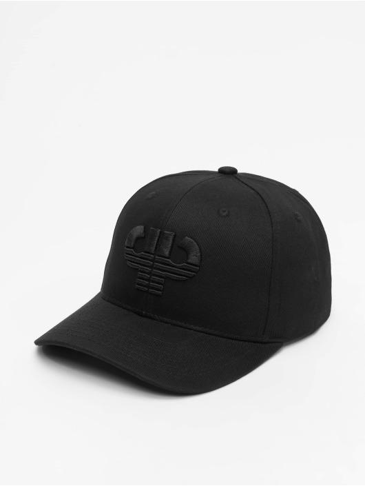 Pelle Pelle Snapback Caps Icon Curved musta