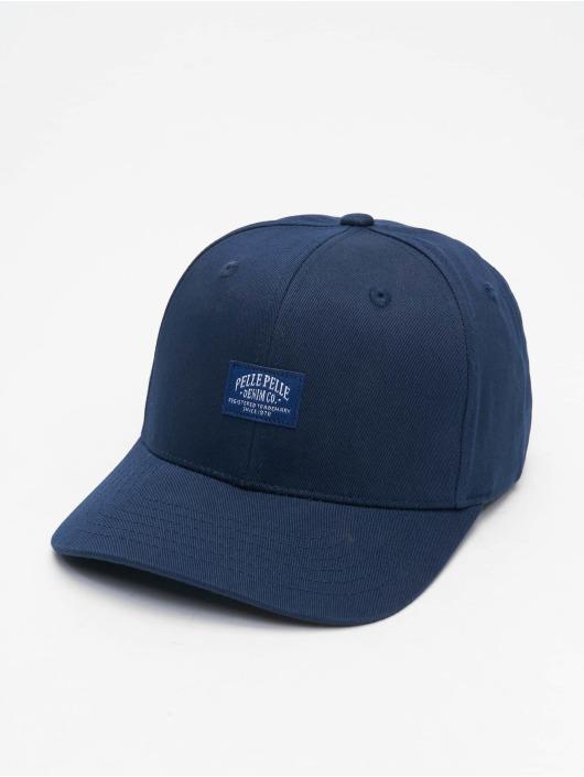 Pelle Pelle Snapback Caps Core Label Curved niebieski