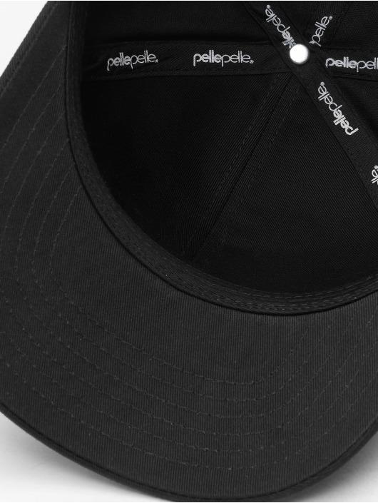 Pelle Pelle Snapback Caps Icon Plate Curved svart