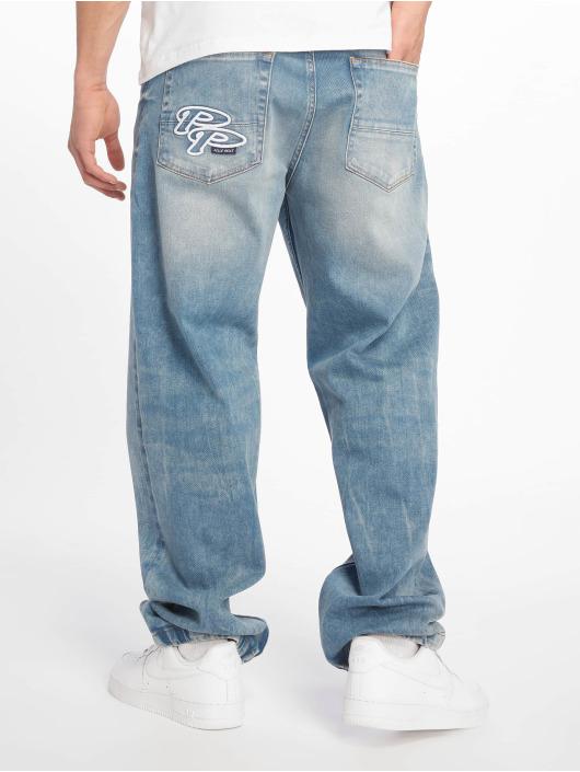 Pelle Pelle Spodnie Baggy Double P Denim niebieski