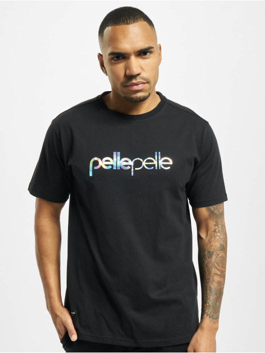 Pelle Pelle T-Shirt Irredescent Logo noir