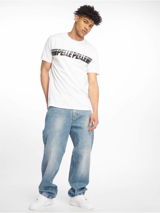 Pelle Pelle T-skjorter Sayagata Fast hvit