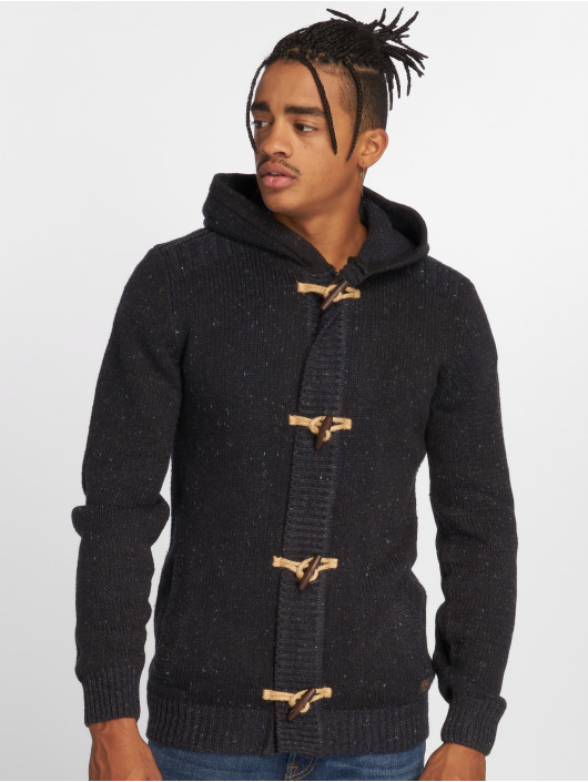 Petrol Cardigan Hooded Industries Homme Noir 481375 cR3L5Ajq4