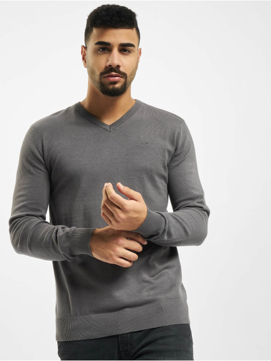 Petrol Industries Gensre V-Neck Knit grå