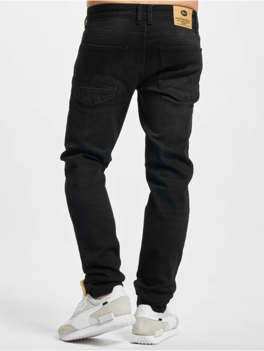 Petrol Industries Jean coupe droite Denim Tapered Regular Straight Fit noir