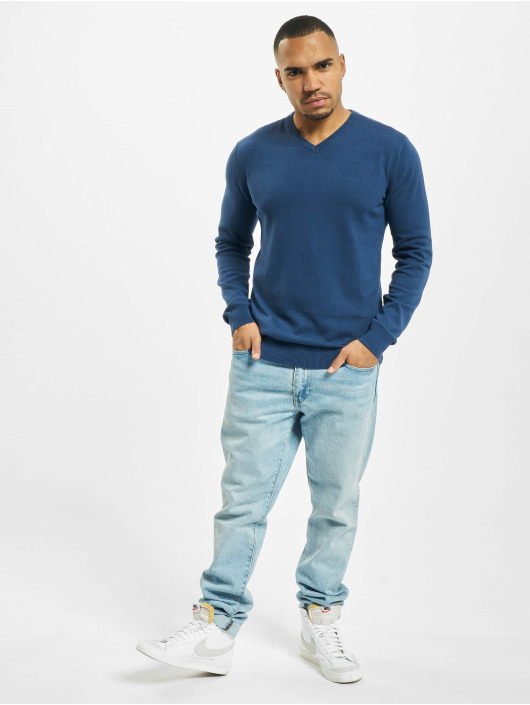 Petrol Industries Pullover V-Neck Knit blue