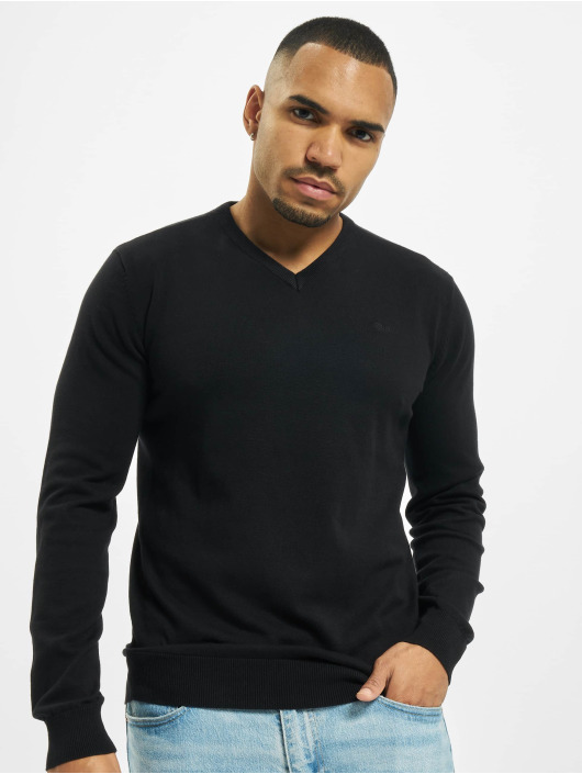 Petrol Industries Puserot V-Neck Knit musta
