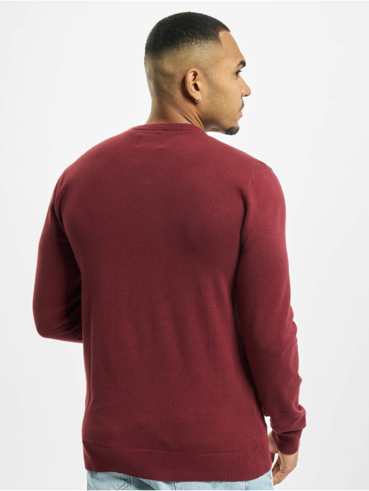 Petrol Industries Sweat & Pull V-Neck Knit rouge