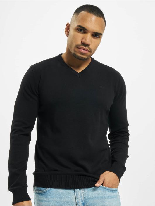 Petrol Industries Swetry V-Neck Knit czarny