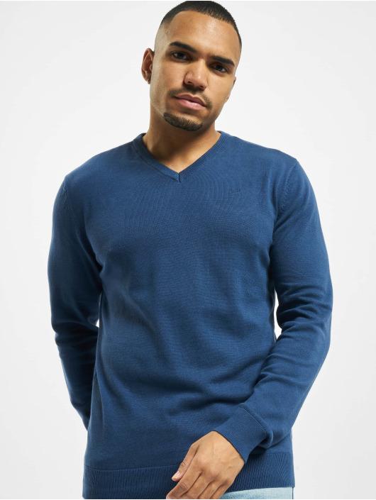 Petrol Industries Swetry V-Neck Knit niebieski