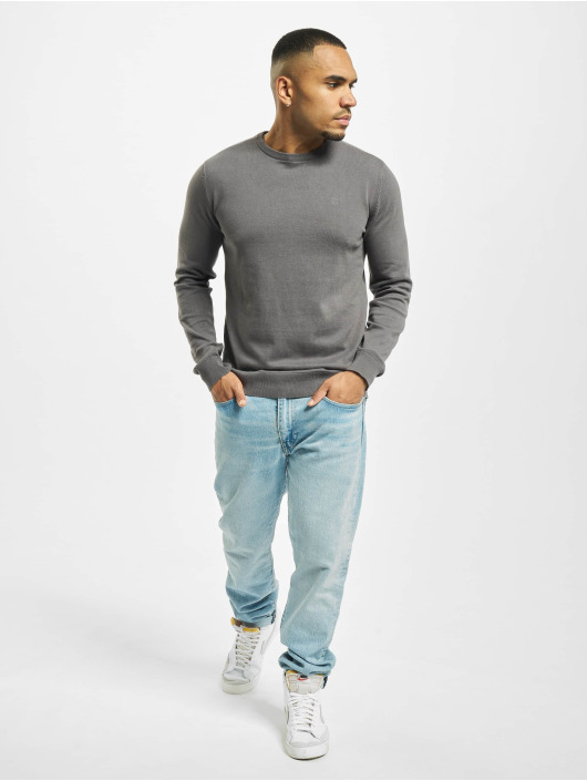 Petrol Industries Swetry R-Neck Knit szary