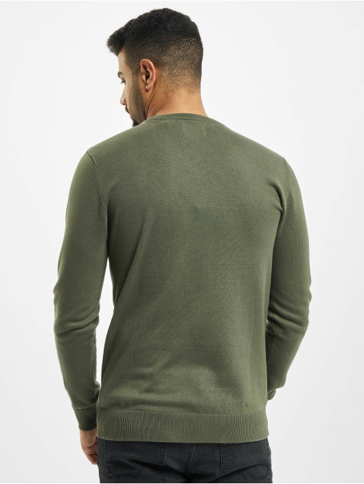 Petrol Industries Swetry V-Neck Knit zielony