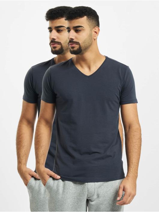Petrol Industries T-Shirt Basic V-Neck 2-Pack blau