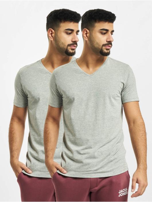 Petrol Industries T-Shirt Basic V-Neck 2-Pack grau