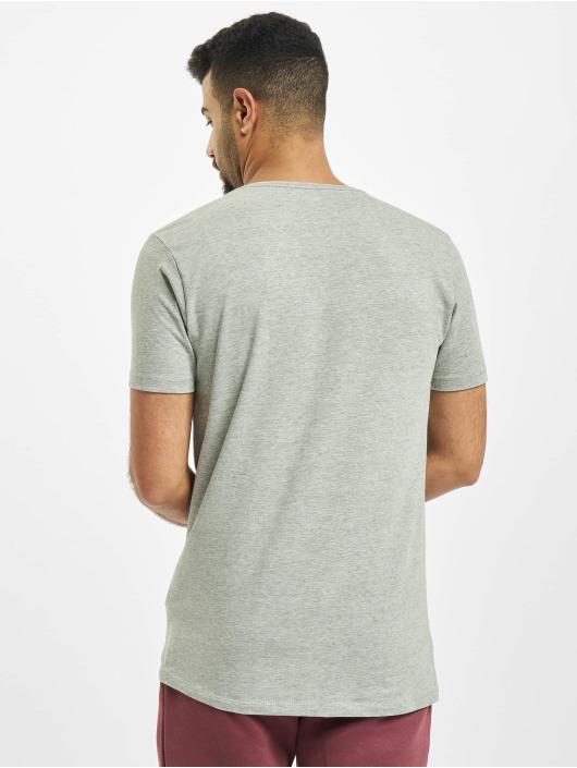Petrol Industries T-Shirt Basic V-Neck 2-Pack grey
