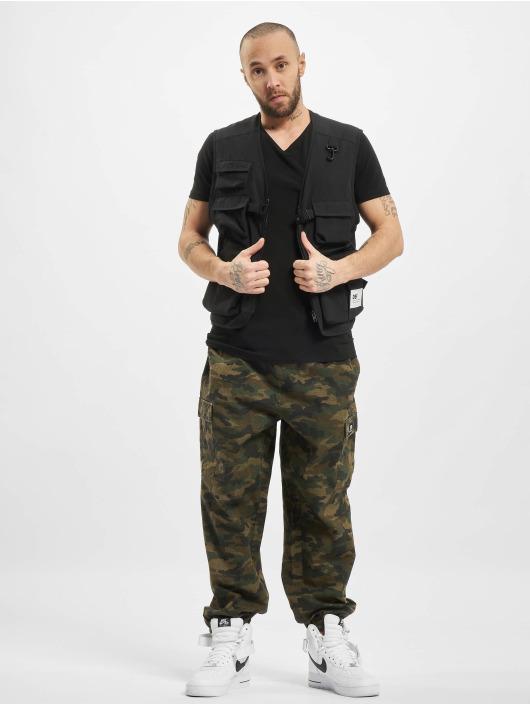 Petrol Industries T-Shirt Bodyfit Basic 2 Pack noir