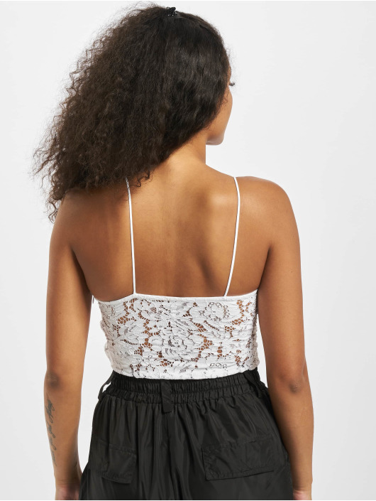 Pieces Body pcAura Strap Lace bialy