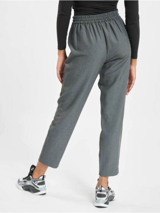 Pieces Chino pcSia Medium Waist Ankle grey