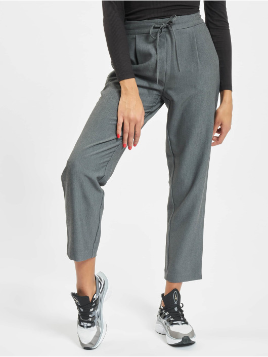 Pieces Chino pants pcSia Medium Waist Ankle gray
