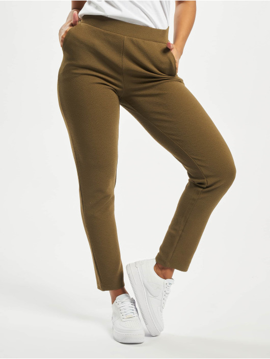 Pieces Chino pants pcChristina Mid Waist Ankle Camp olive