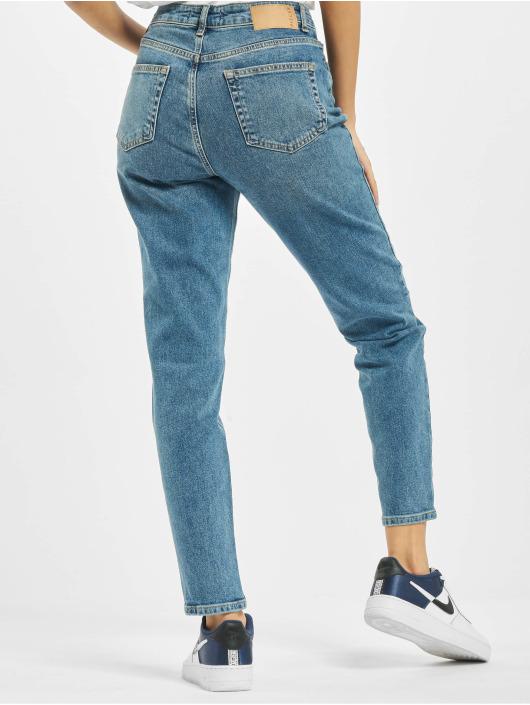 Pieces Dámske džínsy pcLeah High Waist Ankle Noos modrá