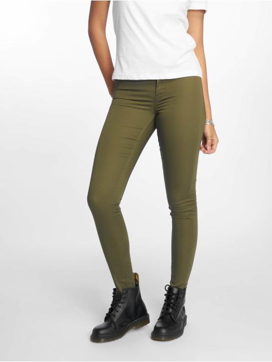 Pieces Skinny Waist Mid 600770 Ultra Olive Pcsage Femme Up Shape Jean 7y6gvYbf