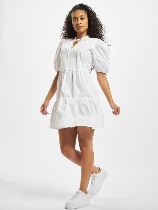 Pieces Kleid pcMarlie 2/4 Elastic weiß