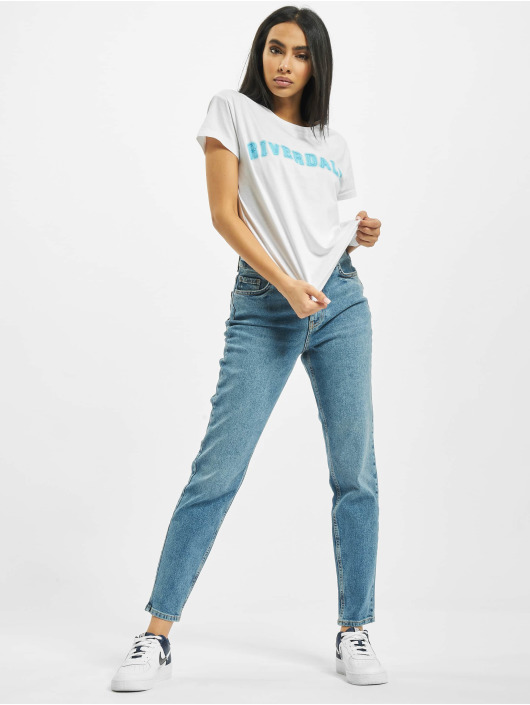 Pieces Mom Jeans pcLeah High Waist Ankle Noos blau
