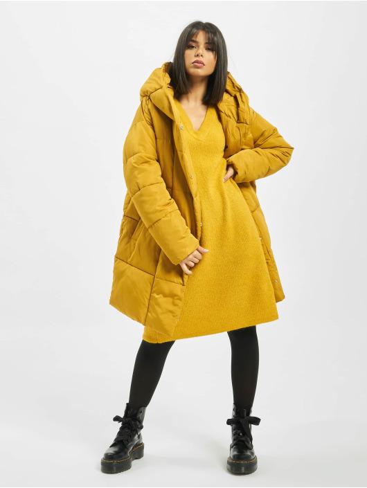 Pieces Puffer Jacket pcHazel Long yellow