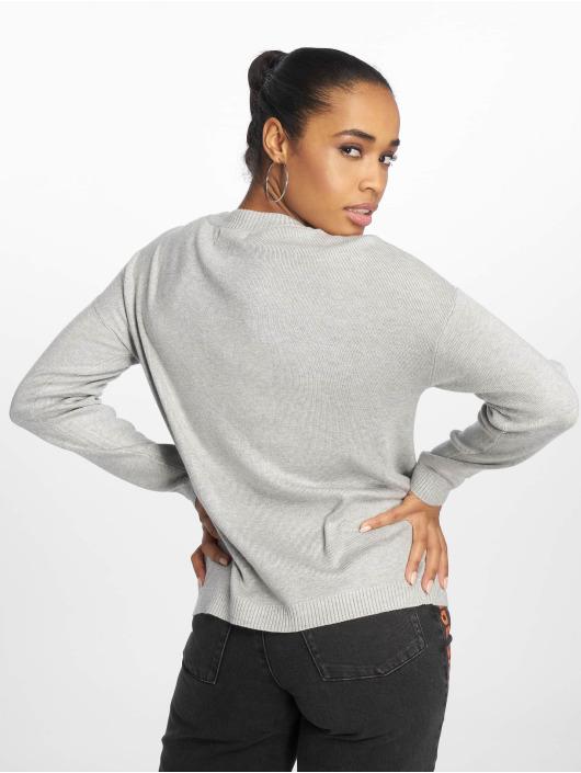 Pieces pcLisa Knit Sweatshirt Light Grey Melange
