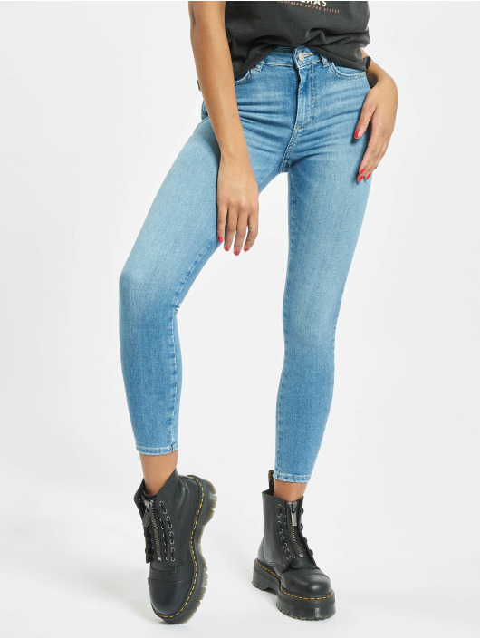 Pieces Skinny Jeans pcDelly Medium Waist Noos blau