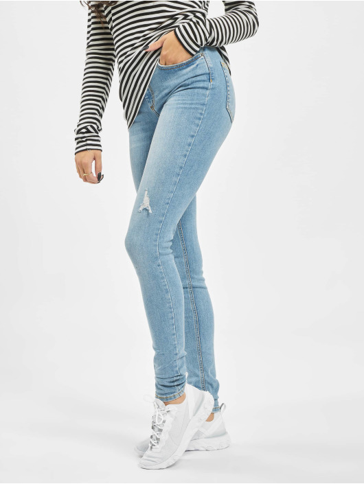 Pieces Skinny Jeans pcDelly blau