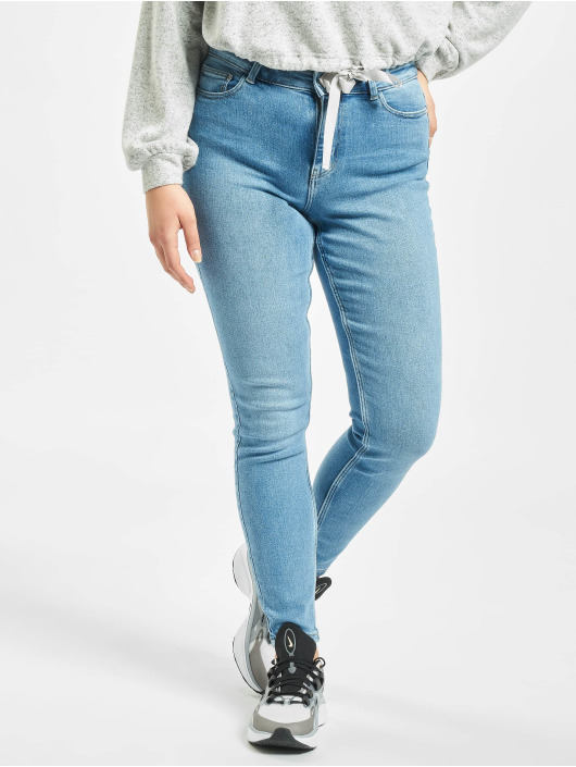 Pieces Skinny Jeans pcKamelia blau