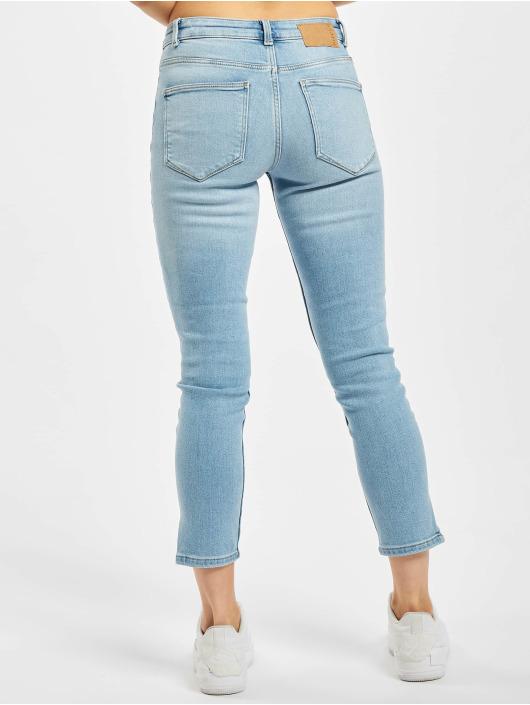 Pieces Skinny Jeans pcKamelia Slit Dest Mid Waist blue