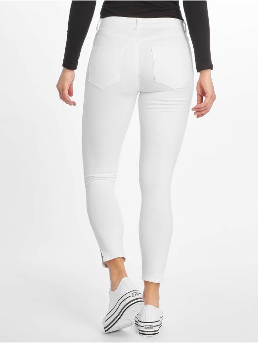 Pieces Skinny Jeans pcDelly Crop Slit Mw weiß