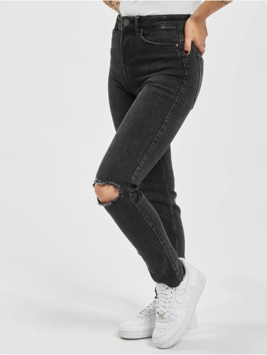 Pieces Slim Fit Jeans pcLili Slim Mid Waist Noos black