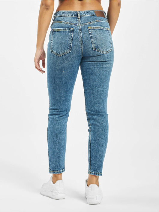 Pieces Slim Fit Jeans pcCara blau