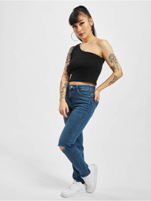 Pieces Slim Fit Jeans pcLili Slim Mid Waist Noos blue