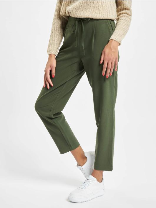 Pieces Spodnie wizytowe pcSia Medium Waist Ankle oliwkowy