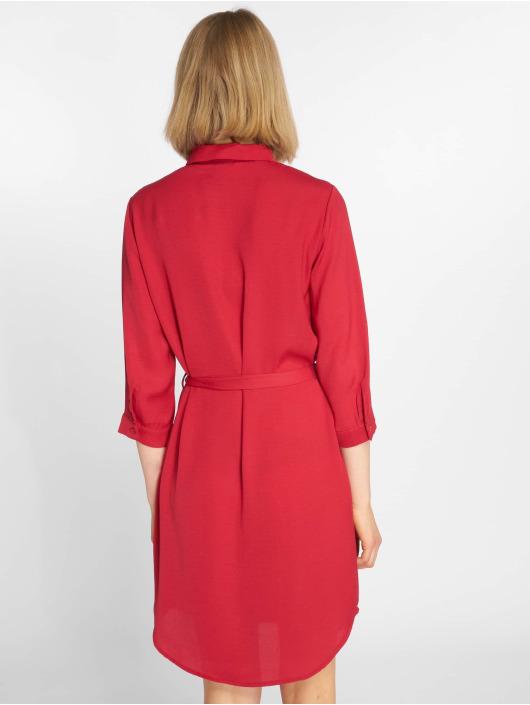 Pieces Sukienki pcFleure 3/4 czerwony