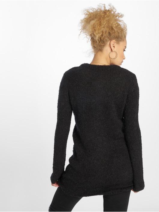 Pieces Swetry Pcfortuna Ls Wool Long Knit czarny