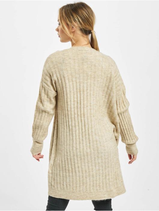 Pieces Swetry rozpinane pcNew Sanni Noos Knit bezowy