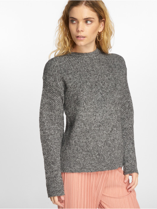 Pieces Swetry pcFania Knit szary